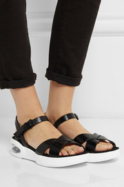 Tech leather sandals