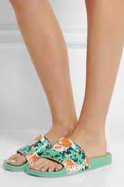 Marc by Marc Jacobs Tech floral-print PU slides