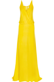 Mason by Michelle Mason Washed-silk georgette gown