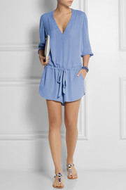 Mason by Michelle Mason Silk-georgette playsuit