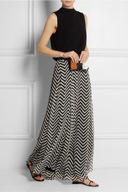 Mason by Michelle Mason Printed silk-chiffon maxi skirt