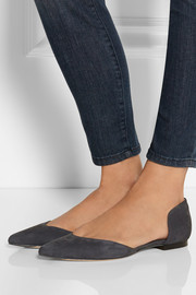 3.1 Phillip Lim Devon suede point-toe flats