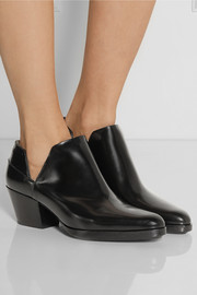 Dolores cutout leather ankle boots