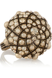 Gold-tone Swarovski crystal ring