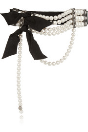 Lanvin Faux pearl and crystal choker