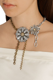 Lanvin Gold and silver-tone crystal necklace