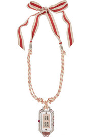 Lanvin Grosgrain and crystal necklace
