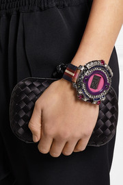 Lanvin Grosgrain and crystal bracelet