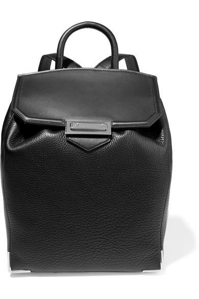 alexander wang female alexander wang prisma skeletal texturedleather backpack black