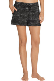 Chelsea Trotter flecked stretch-jersey pajama shorts
