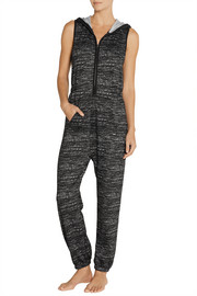 DKNY Chelsea Trotter flecked stretch-jersey jumpsuit