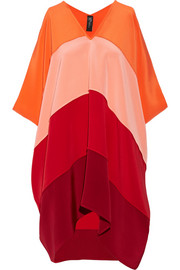 Zero+MariaCornejo Sahara paneled silk dress