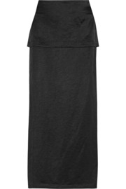 Zero+MariaCornejo Diba layered satin maxi skirt