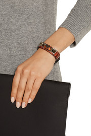 Proenza Schouler PS11 elaphe and silver-tone bracelet