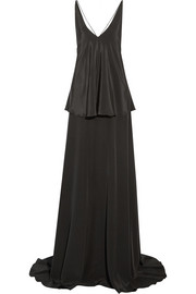 Michael Lo Sordo Silk crepe de chine slip maxi dress