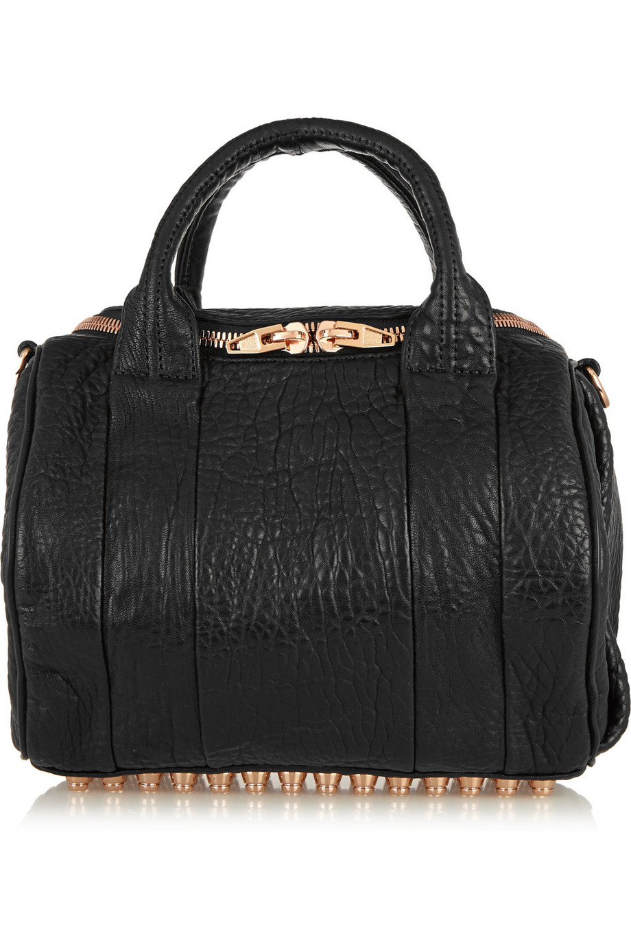 Alexander Wang Rockie Textured-Leather Tote, Black, Women's, Size: One Size