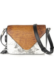 Prisma lizard-effect leather shoulder bag