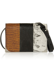 Prisma Biker lizard-effect leather shoulder bag