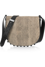 Alexander Wang Lia small elaphe and leather shoulder bag