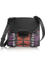 Marion Prisma Skeletal lizard-effect leather shoulder bag