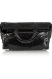 Prisma coated leather fold-over clutch