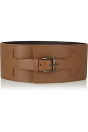 Arrow leather waist belt