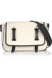 Tomas Maier Leather-trimmed canvas shoulder bag
