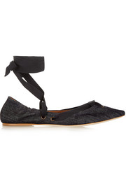 Tomas Maier Denim point-toe flats