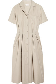 Cotton-poplin shirt dress