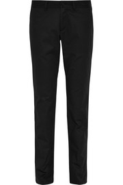 Cotton-gabardine tapered pants