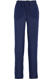 Tomas Maier Silk-crepe tapered pants