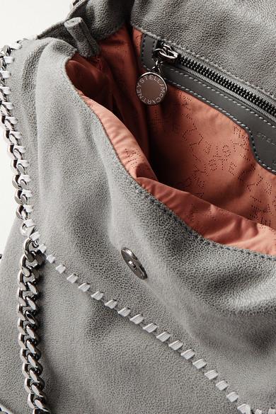 68f472e2a575 Stella McCartney. The Falabella medium faux brushed-leather shoulder bag.   1