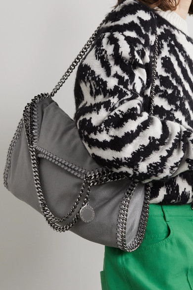 05901fde90a0 Stella McCartney. The Falabella medium faux brushed-leather shoulder bag