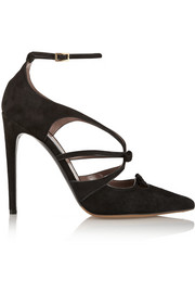 Tabitha Simmons Bow suede pumps