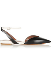 Vera leather point-toe flats