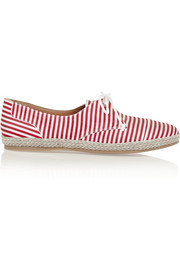 Dolly striped silk espadrilles