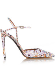 Tabitha Simmons Valentina floral-print leather pumps