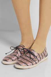 Tabitha Simmons Dolly printed silk espadrilles