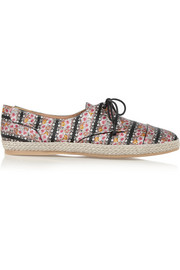 Dolly printed silk espadrilles