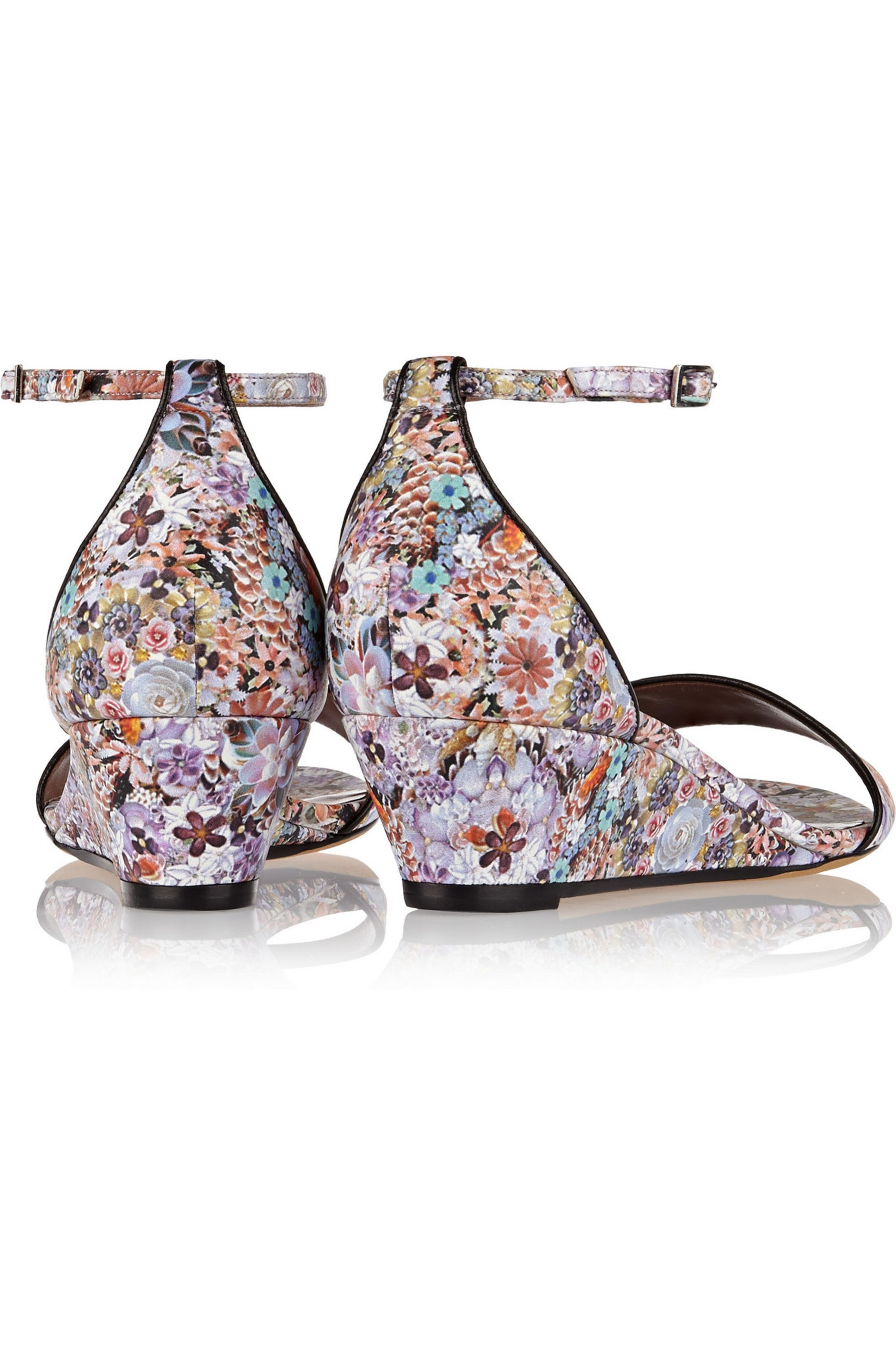 Tabitha Simmons Juniper floral-print leather wedge sandals
