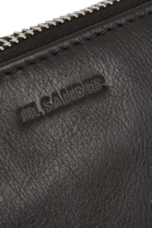 Jil Sander Large leather clutch