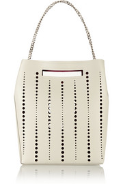 Jil Sander Perforated leather shoulder bag