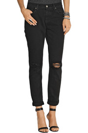 J Brand Jake distressed mid-rise slim boyfriend jeans