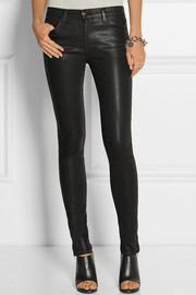 J Brand 8032 Stocking Ryan mid-rise coated skinny jeans