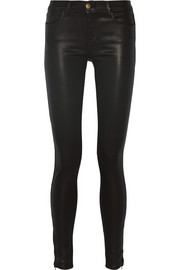 8032 Stocking Ryan mid-rise coated skinny jeans