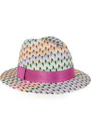 Crochet-knit Panama hat