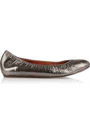 Lanvin Metallic leather ballet flats