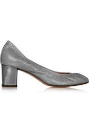 Lanvin Metallic lizard-effect leather pumps