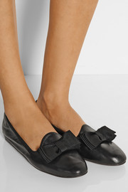 Lanvin Bow-embellished leather loafers