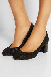 Lanvin Snake-effect leather pumps